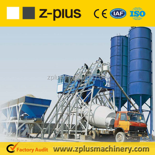 Easy Assembly Plant Layout For Sale 75m3/h concrete station