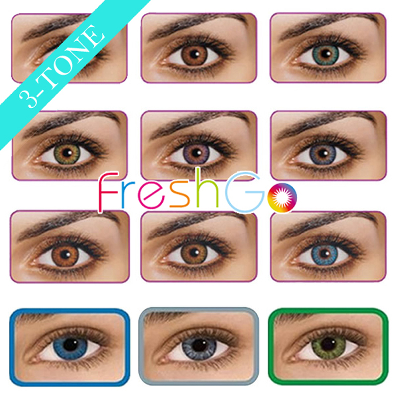 3-tone colorblends big size color contact lenses 12 colors / freshlook / ready stock / wholesale / customized