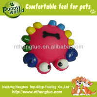 rubber ball with teeth dog toy
