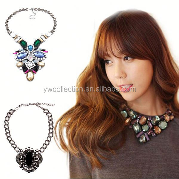 Factory price wholesale chunky statement necklace,22 carat gold jewelry,silicone tattoo necklace