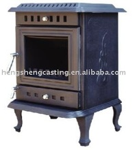 antique black solid fuel cast iron stove