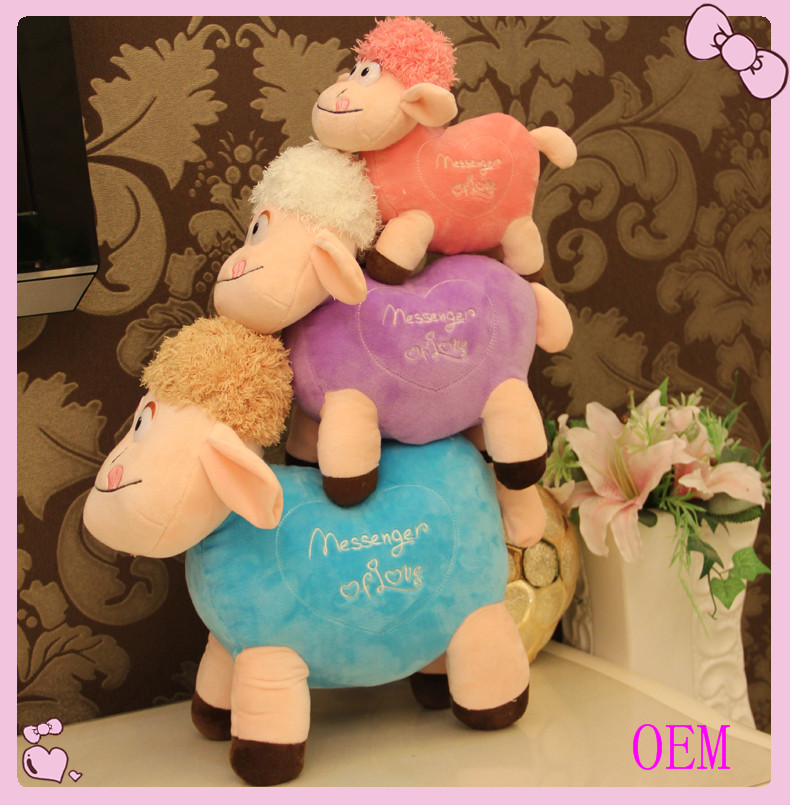 Custom soft stuffed animal plush lamb toy