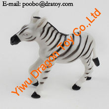 small plastic zebra figurine zoo animal toy
