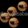 Metallic golden color gift golf ball