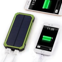 Hot selling solar power bank 15000mah, CE FCC solar charger, portable solar panel for smart devices