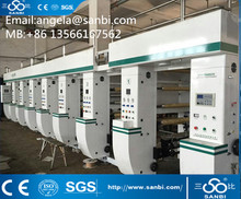 High Speed Computer 6 colors or 8 colors Rotogravure Printing Machine Price