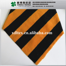 50% Wool, 50% Polyester 580gsm brushed black and yellow stripe fabric wholesale