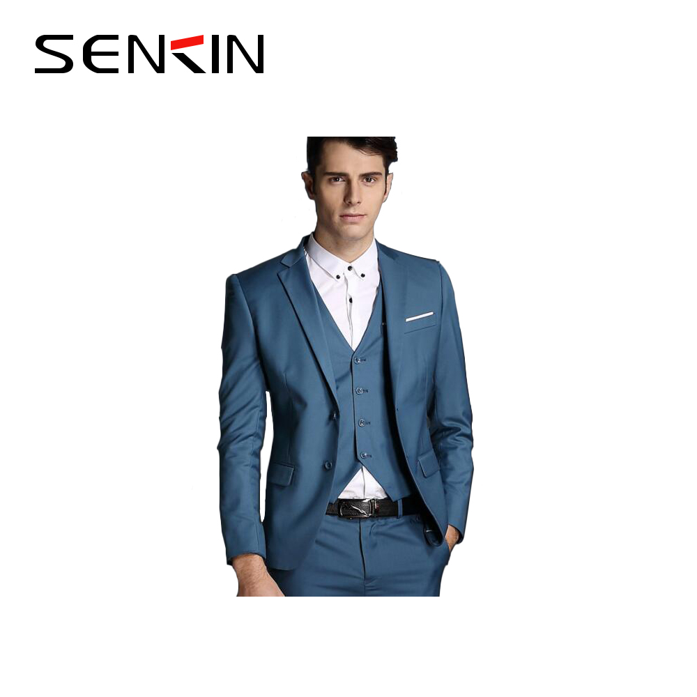 2016 Guangzhou wool/polyester men's wedding suits/Trendy business suit for men