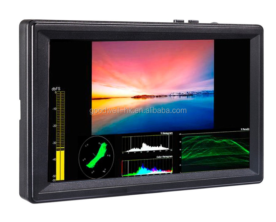 "Hot Professional Camera Mount LCD7""1920X1200 IPS panel with 3G-SDI Input& Output ,450cd/m2 High Brightness"