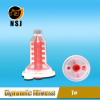 7# Red dental dynamic tube mixer for 3M Pentamix for portable concrete mixer with plastic drum
