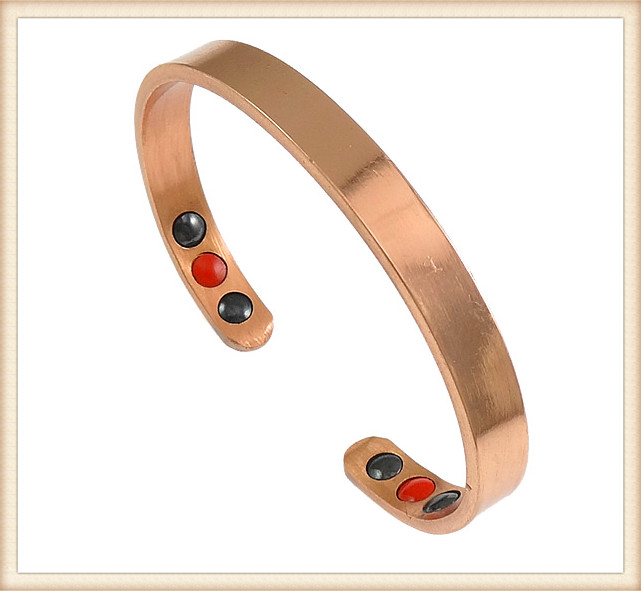 China supplier wholesale health nice pattern magnetic copper infrared ion magnet germanium bracelet