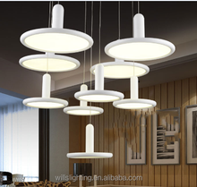 modern luxury led acylic lamp chandelier light for hotel project