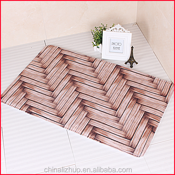 coral fleece Material and Eco-Friendly Feature microfiber print bath mat