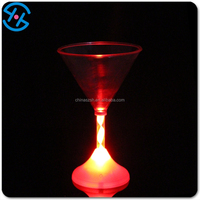 Flashing led cups, plastic mug, color change drinking glass with round bottom