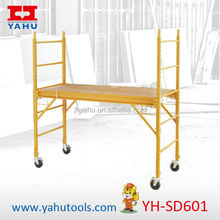 HOT SALE 6-Feet multi purpose scaffolding with four 5-Inch locking swivel casters, scaffolding hire sydney
