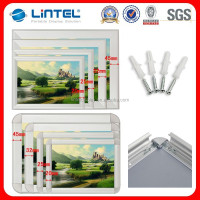 32mm round corner aluminum double sided poster frame