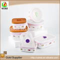Newest stylish promotion colorful made eco-friendly ceramic white porcelain bowl with lid manufactures from china