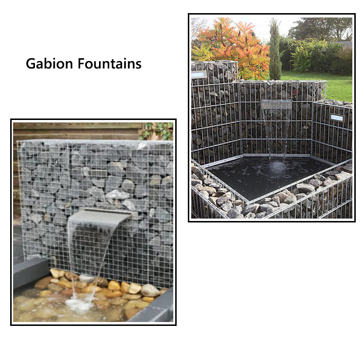 gabion fence spiral with galvanized welded gabion basket