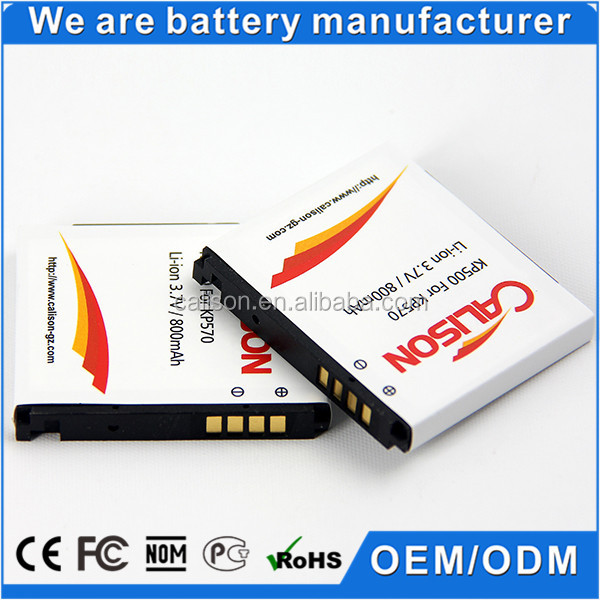 Mobile Phone Battery KP500 for LG KP500/ KC550/ KX500/KV500/KP501/KP502