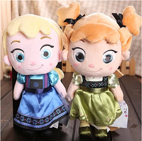 30cm 12'' Childhood Elsa Anna Princess Plush Toy Olaf Kristoff Sven Kawaii Cartoon 2015 Movies & TV Funny Valentine's Day Gift