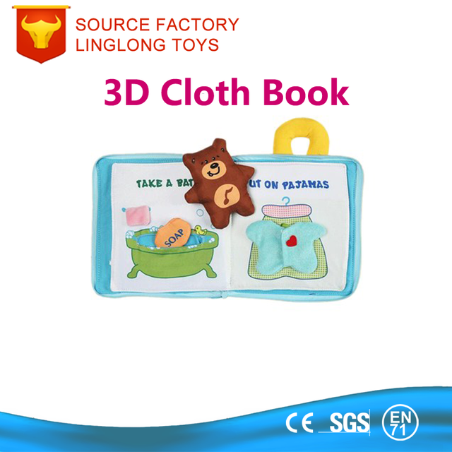 English Soft Cloth books Baby 15CM*15CM Square education book Hand-held Emoji/star/Bear Child Cloth Book