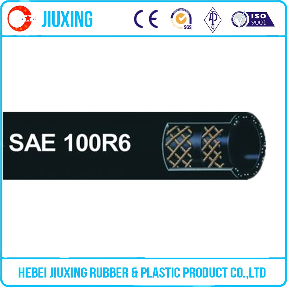hydraulic rubber fuel hose cotton braided
