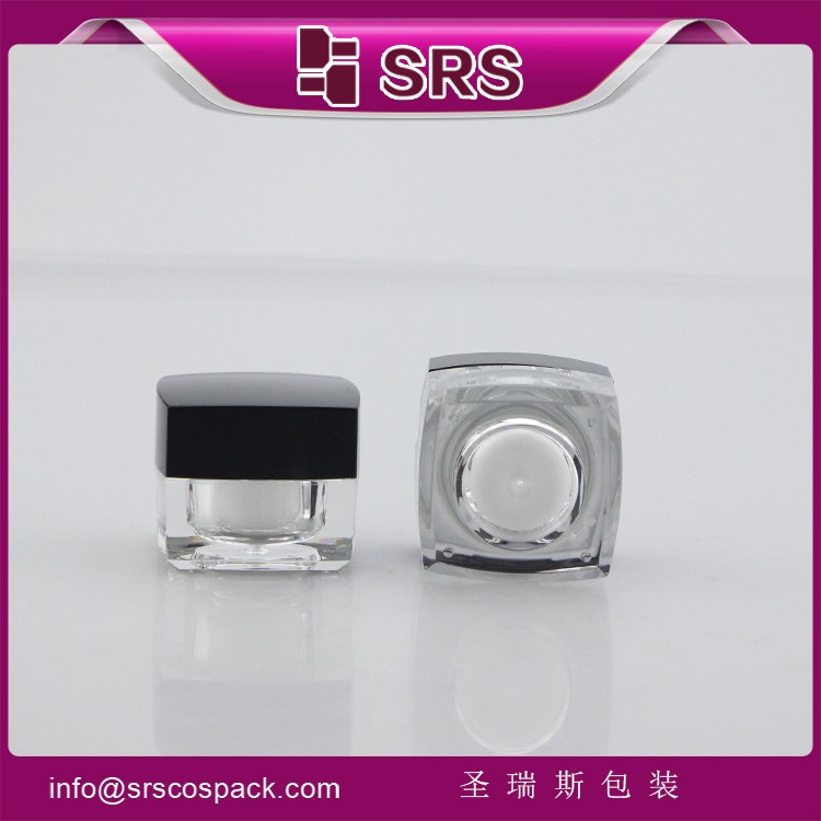 Empty small 5g acrylic plastic jar cosmetic