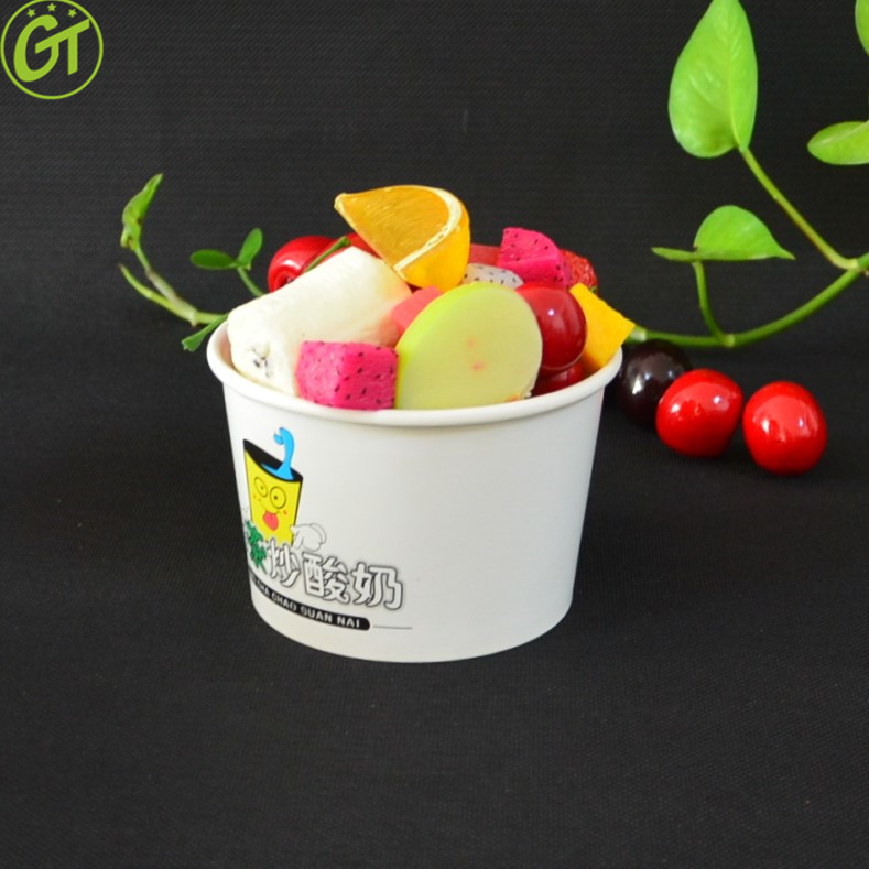 16OZ Disposable Paper Cup Pasta Deli Soup Ice Cream Tub Bowl With Lid