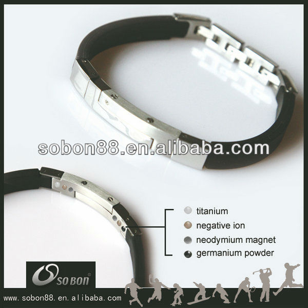316L stainless steel and silicone bracelet wholesale