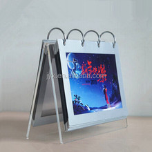 A5 Size 5mm Plexglass Made Desk Calendar With 12 Plastic Pockets