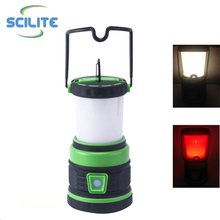 ABS led camping light USB rechargeable led camping lantern with hook carabiner