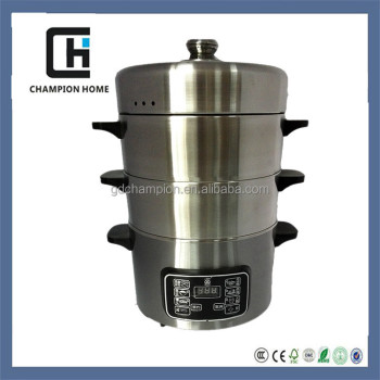 2015 Home Appliances Microcomputer stainless steel electric food steamer