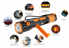 new product water resistant torch flashlight hand tool with led flash light radio