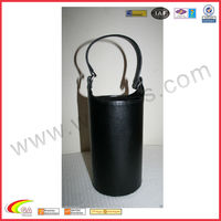 Leather Handle Black Leather Wine Case Hot Sale