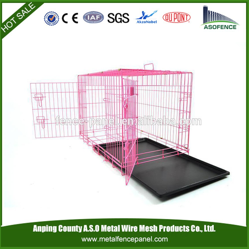 ISO 9001 alibaba china whole sale wire folding pet crate dog cage for Europe
