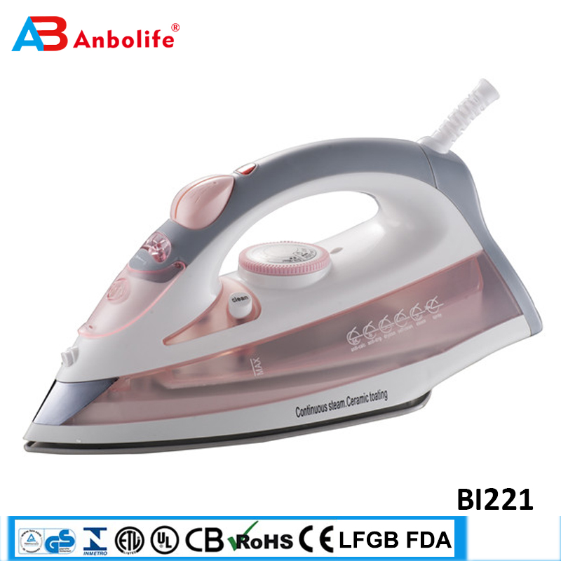 Anbo professional automatic self clean big water tank electric garment steam flat iron thermostat ceramic industrial steam iron