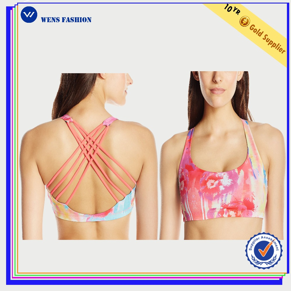 China Factory Fashion Lady's Sports Bra Sports Yoga Wear Soft Bra