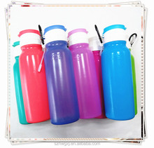 Food Grade 500ml Silicone Collapsible Water Bottle/Bpa Free Water Bottle