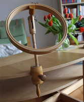 Hot sell Wooden Embroidery Vintage Wooden Embroidery Table Clamp Hoop made in China