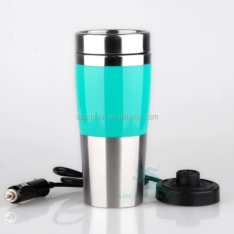 Stainless steel heating and cooling trave heated mug