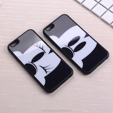 TOMOCOMO Cute Black Mickey Minnie Cartoon Mirror Soft Phone Case Coque Fundas Cover For iPhone 6 6S 6Plus 7 7Plus 5 5S SE