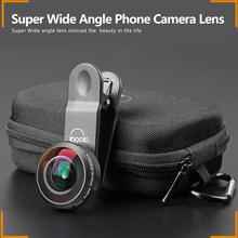 Easy detachable iboolo 8mm super wide angle mobile phone camera lens with travel bag