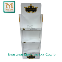 Point of Sale Free Standing Design Cardboard Display Cosmetic Product Promotional Display Stand