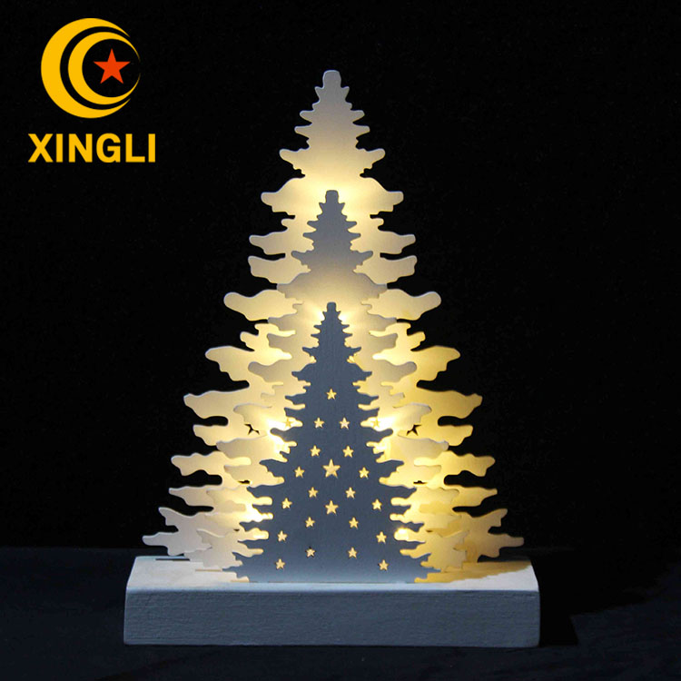 Hot sale high level wooden handicraft for decoratin led christmas tree xmas light