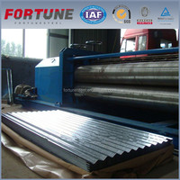 fortune manufacturer cold rolled zinc corrugated galvanised steel metal roofing sheet