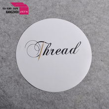 Beautiful name brand self adhesive paper sticker with letter