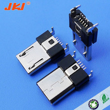 micro usb 5p smt male pcb connector