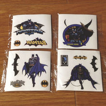 mix item free shipping wholesale 2000pcs hotselling 5*5 tatoo stickers Batman party supplies cheap toys for kids