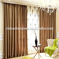 Simple Design Embossed Hotel Window Curtains Style