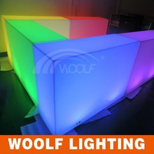 portable mobile led square bar counters design